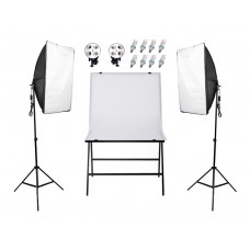 Continuous SoftBox Lighting Kit & Shooting Chair 60x100CM Easy Set Up Jo-9