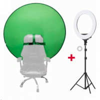 Portable Round Background Green 130cm and Ring Light 10 inch JO-11