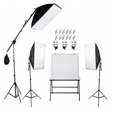 Continuous SoftBox Lighting Kit & Shooting Chair 60x100CM Easy Set Up Jo-8