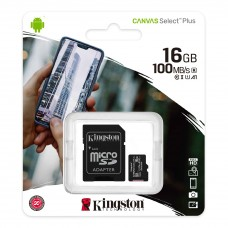 Kingston Canvas Select Plus microSD Card 16GB with SD adapter