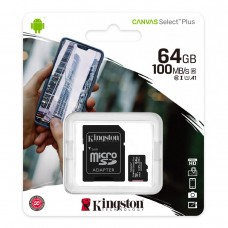 Kingston Canvas Select Plus microSD Card 64GB with SD adapter