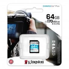 Kingston Canvas Go! Plus SD Memory Card 64GB