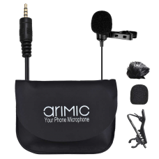 AriMic Clip-on Lavalier Lapel Microphone