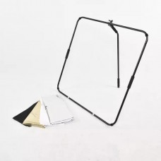 Studio Reflector with folding frame and Handle Rod 100x100cm