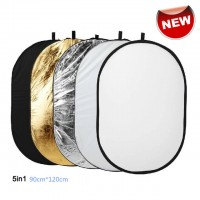 90x120cm 5-in-1 Portable Collapsible Reflector