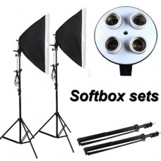 Continuous SoftBox Lighting Four Socket Kit