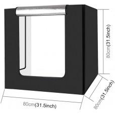 Puluz Studio LED Light Box 80 x 80cm With 3 Backdrops
